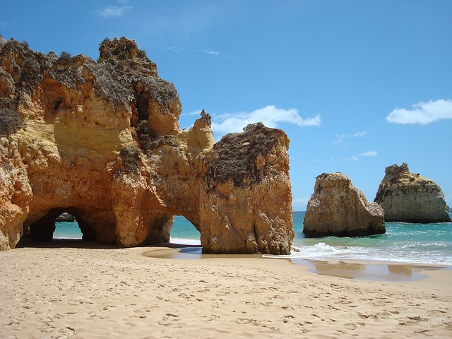 Plage d'Algarve au Portugal