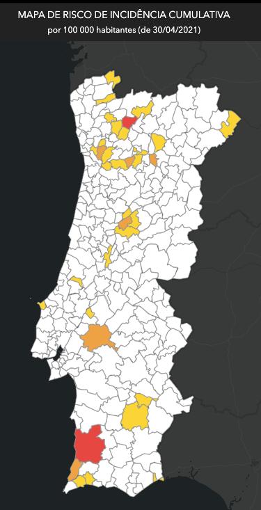 incidences au Portugal
